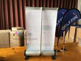 Altura ajustável Mini pull up banner Desktop / Table RollUp Banner Stand
