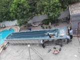 屋外の大きい長方形10.6meters渦のマッサージのバルボア制御水泳の鉱泉