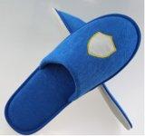 Deslizador de veludo / Hotel de cinco estrelas Pulverizador lavável / logotipo de bordados EVA Slipper