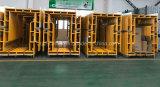 Angestrichen, überzogenen Baugerüst-Weg durch Rahmen mit Taktgeber pulverisieren