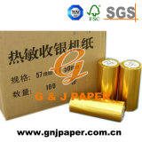 papier thermosensible estampé par atmosphère de 80mm x de 80mm en roulis