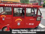 Triciclo Bajaj Tuktuk del motor de tres ruedas para el pasajero con el neumático de la espinilla de Cheng