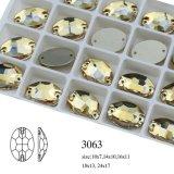 مصنع عمليّة بيع شكل بيضويّ [سو-ون] حجارة وظهر مسطّحة خرزة