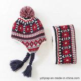 POM POMの帽子のジャカード帽子の帽子の帽子によって編まれる帽子