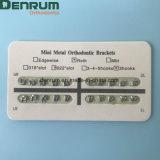 Ortodoncia dental de la fuente de Denrum dos mini corchetes de Roth de los pedazos