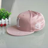 ピンク6のパネルPUの刺繍の急な回復3Dの帽子および帽子の製造業者