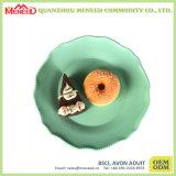 다채로운 꽃 변죽은 플라스틱 멜라민 케이크 격판덮개를 주문 설계한다