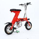 Mini bici plegable de E para las mujeres en color rojo