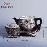 Flor gêmea cerâmica do Flowerpot de Loveseat do vintage novo do projeto