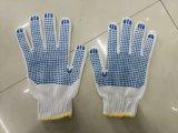 Деятельность горячего сбывания промышленная связала перчатки хлопка при поставленный точки PVC