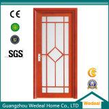 Puerta de seguridad de madera de metal interior de PVC laminado