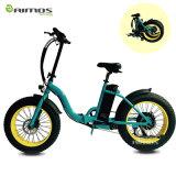 bicicleta elétrica da cidade 48V verde