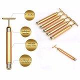 cirugía estética del retiro de la arruga del pulso de la barra de la belleza del oro 24k que vibra fácil hecho en casa de oro 24k llevar el instrumento de la belleza