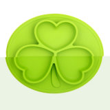 Colorida forma cuadrada 100%de silicona de grado alimentario de las placas de la cena de diseño especial para niños