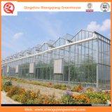 정원 또는 야채 또는 꽃 성장하고 있는을%s 갱도 유리제 온실 경작하기