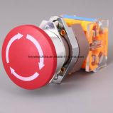 Переключатель кнопка тавра Keyway непредвиденный с Drilling 22mm
