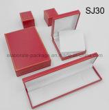 Rectángulo de regalo plástico rojo del conjunto del embalaje de la joyería