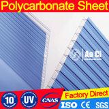 Folha de policarbonato de material caloroso