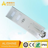 Preço de fábrica 40W alumínio liga all-in-one luz solar de rua