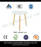 Hzct093 새로운 플라스틱 커피용 탁자 윗 표면 고체