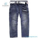 Jeans del denim dei ragazzi di modo con la casella sei dai jeans della mosca