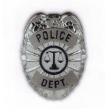 Die Casting personnalisé Seuurity insigne de police de la goupille de sécurité Shop Tin