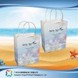 Sac de transporteur de empaquetage estampé de papier pour les vêtements de cadeau d'achats (XC-bgg-003)