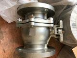 Investissement du robinet à tournant sphérique de flottement d'acier inoxydable de bâti avec le traitement