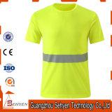 도매 Tc 능직물 직물 높은 시정 사려깊은 안전 건축 t-셔츠