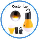 Mini luz colgante portable al aire libre de la tienda de la pesca del bulbo que acampa LED