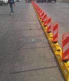 Panel con Plástico Delineador Camino Caucho Separador