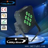 luz sin hilos de la IGUALDAD de 12*6in1 RGBWA+UV DMX LED, luz de la IGUALDAD de la potencia de batería LED, iluminación de /Wireless LED/arandela sin hilos de la pared de la batería LED