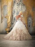Платья венчания Mermaid мантии слоя шнурка lhbim Bridal
