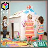 Caixa Paintable interna do teatro do papel do cartão ondulado para miúdos