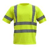 T-shirt 100% r3fléchissant de polyester de visibilité de qualité
