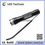 365nm 395nmの紫外線トーチ3W LEDの紫外線懐中電燈