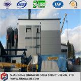 セメントのプラントまたは発電所のための重いプレハブの鉄骨構造