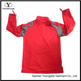 メンズ赤い軽量の羊毛のプルオーバーの防水通気性のSoftshellのジャケット