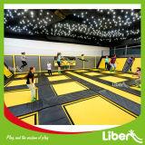 Arena dell'interno del trampolino di configurazione con la squadra dell'installazione