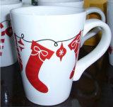 250ml 사기그릇 판매를 위한 장식적인 크리스마스 우유 찻잔