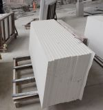 Чисто белые верхние части тщеты Countertops слябов камня кварца