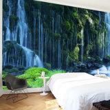 カスタマイズされたデザイン森林図形自己接着ビニールの壁の壁の印刷