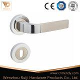 Aluminiumtür-Griff auf quadratischer Rosette mit Tür-Verschluss Ob (AL233-ZR13)