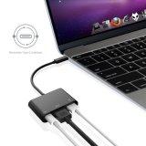 C USB-3.1 Typen c-weiblicher Aufladeeinheits-Adapter schreiben Nabe USB-C zum USB-3.0/HDMI/