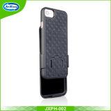 2017 Nuevo patrón de tejido funda Clip para cinturón Kickstand combinado con funda para iPhone 7 7 Plus
