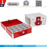 Caixa de selo ajustável dos compartimentos do alumínio 12 médios com fechamento de segurança