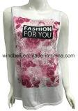 인쇄를 가진 폴리에스테 유행 소매 없는 t-셔츠