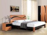 製造業者の農産物のブラウン快適な寝室の家具の黒およびデザイン