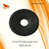 Heiße neue Produkte für Lautsprecher 2017 zerteilt Rand-Papier-Kegel PU-2.5inch