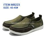 Горячие сбывания популярные мужские Повседневная обувь Slip-на холст обувь (MB223)